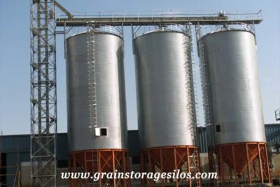 Ethiopia cotton seeds hopper bottom silo 1000T of Shelley Engineering