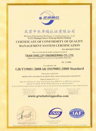 ISO 9001 of Shelley Company
