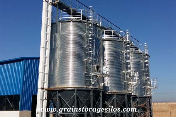 ShanXi Wheat hopper bottom silo 1000T of Shelley Engineering