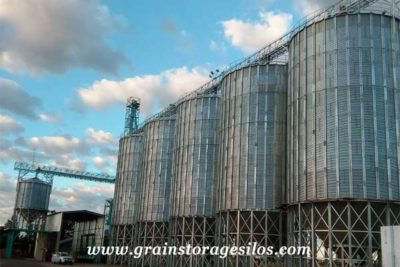 South Africa Wheat hopper bottom silos 1500T of Shelley Engineering