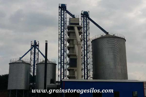 Xian corn hopper silo 1000T of Shelley Engineering