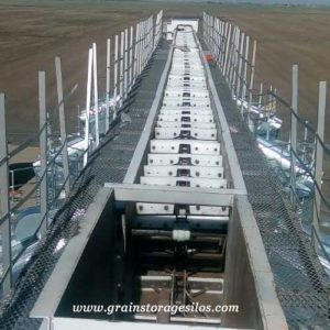 drag conveyor for grain storage silos