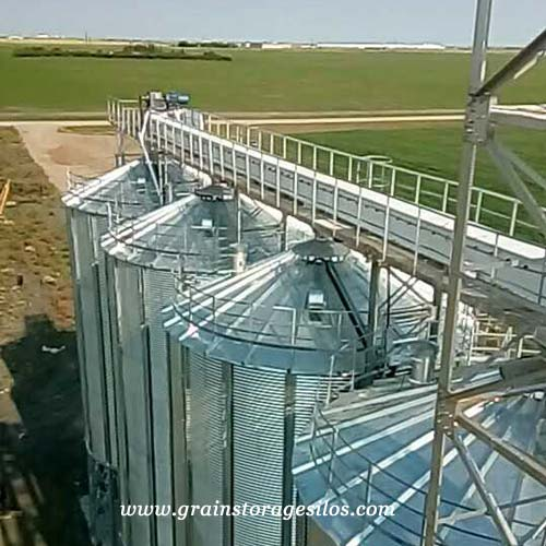 grain drag conveyor for grain silos