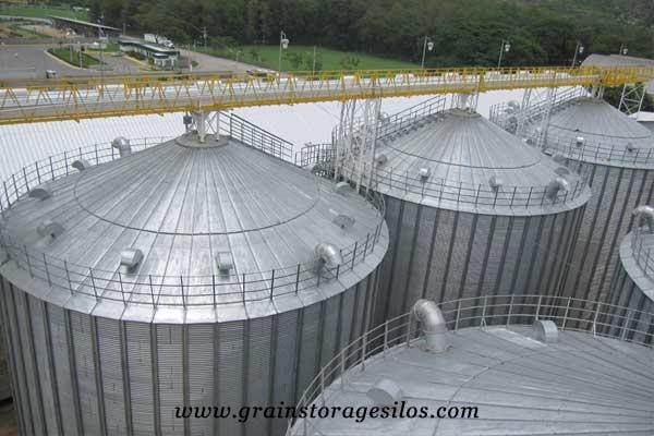 Waterproof Silo Roof of flat bottom silos