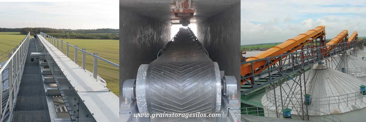 belt conveyor for steel silos