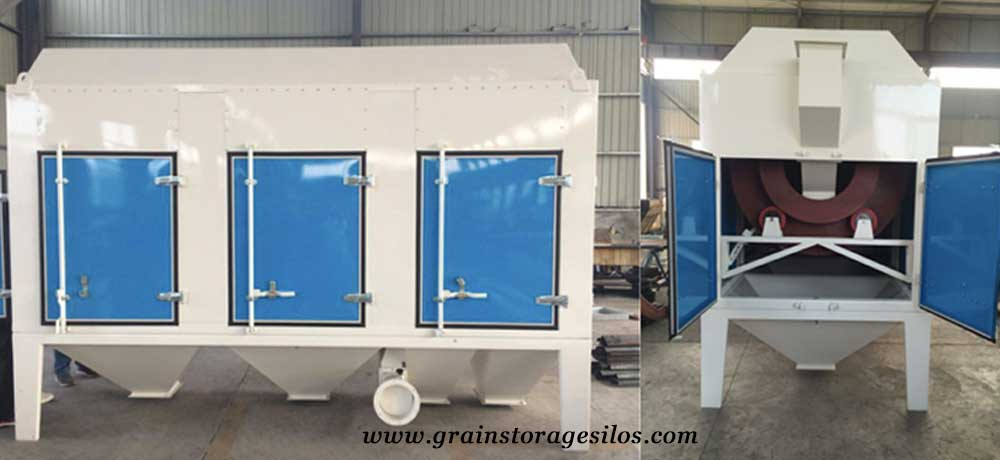 grain cleaning machine for steel silos