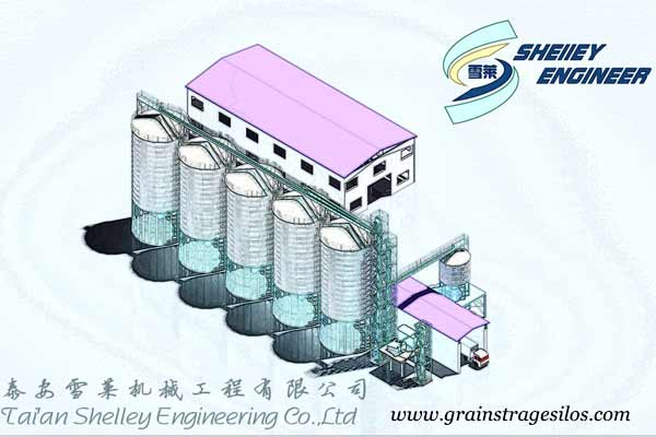 product development of grain storage silos 3D drawing