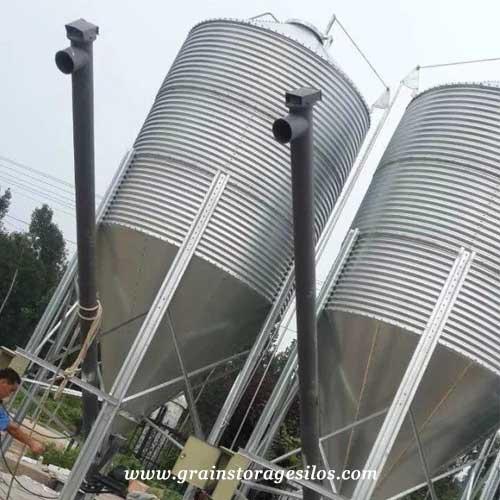 screw conveyor for grain storage silos