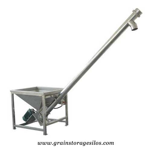 screw conveyors for grain storage silos