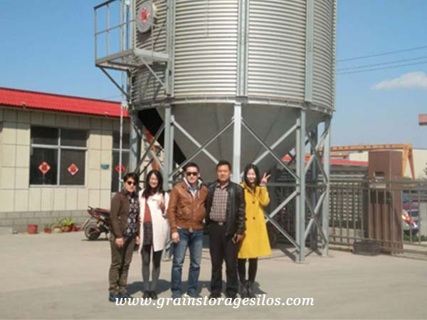 rice storage silo customer