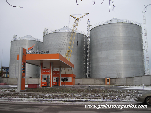 10000t Flat Bottom Bins In Ukraine
