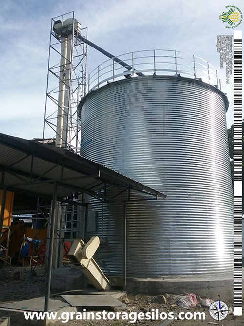 Corrugated Maize Storage Silo in Philippines