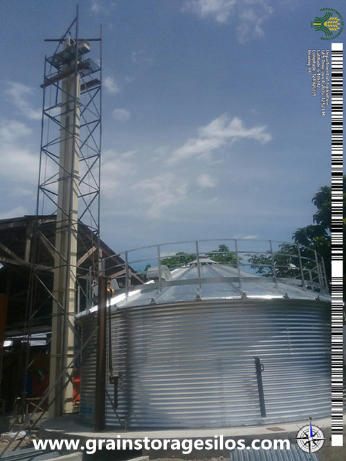 Corrugated Maize Storage hopper Silo in Philippines