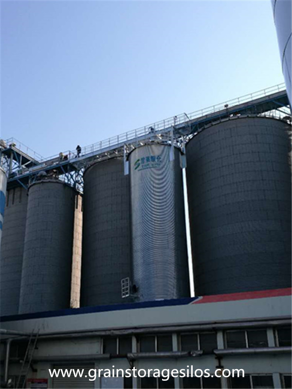 Barley silo is well running in brewery