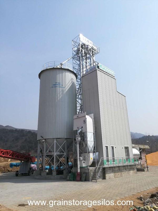 Maize storage silos run in Hebei Province