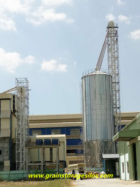 Myanmar rice husk storage silo solution