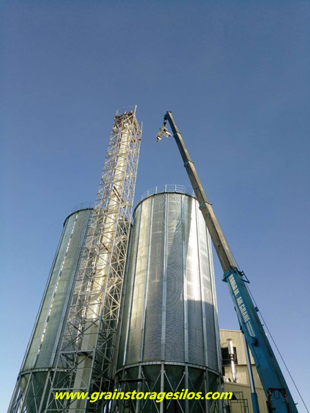 Myanmar rice husk storage silo system
