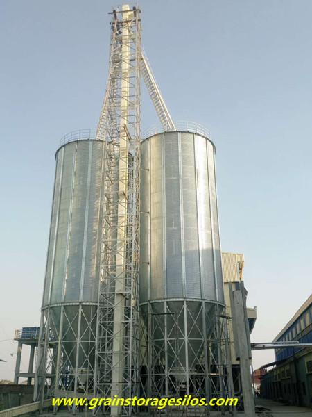Myanmar rice husk storage silos