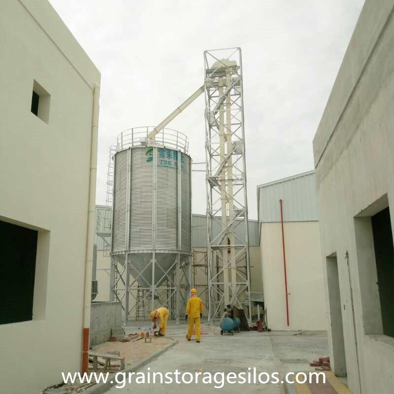 Fertilizer Pellet Storage Silo Project installation