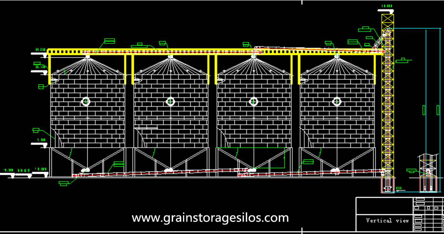 Rape seed storage grain silo installation in Inner Mongolia