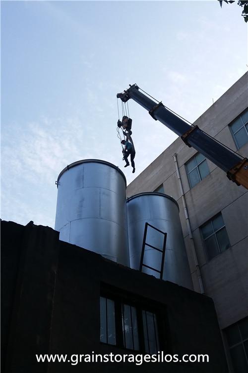 flour Silo Installation was Finished in Shandong Province